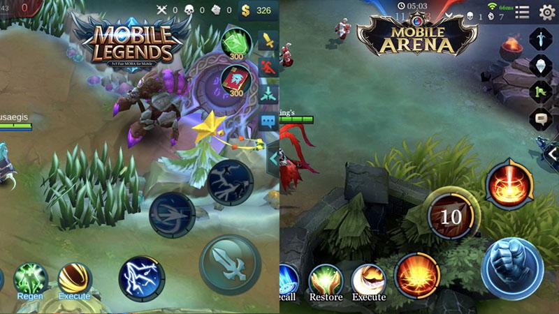 MOBA Seru di Android, Perbandingan Mobile Legend Dengan Mobile Arena