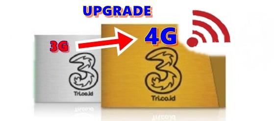 Ternyata Begini Caranya Upgrade Sendiri Kartu Tri 3G Ke 4G