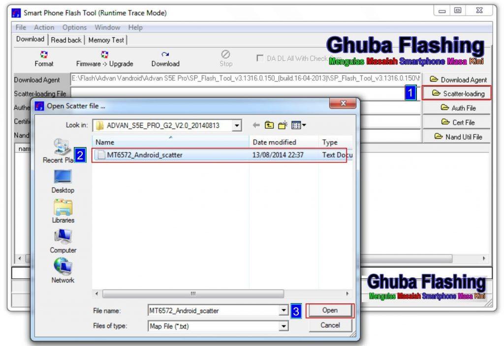 Cara Flash Advan S5E Pro S12 (LT) V1.1 JB 4.4.2 via Flash Tool