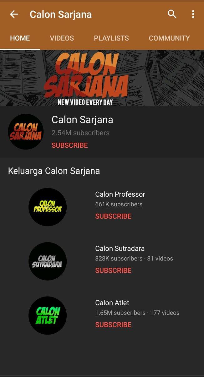 Sudah 'Terminated' Channel YouTube Calon Sarjana Reinkarnasi Kembali